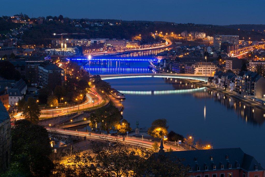 Ponts sur la Meuse depuis la citadelle
