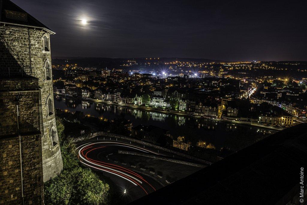 La tour aux Chartes, la route Merveilleuse et Jambes