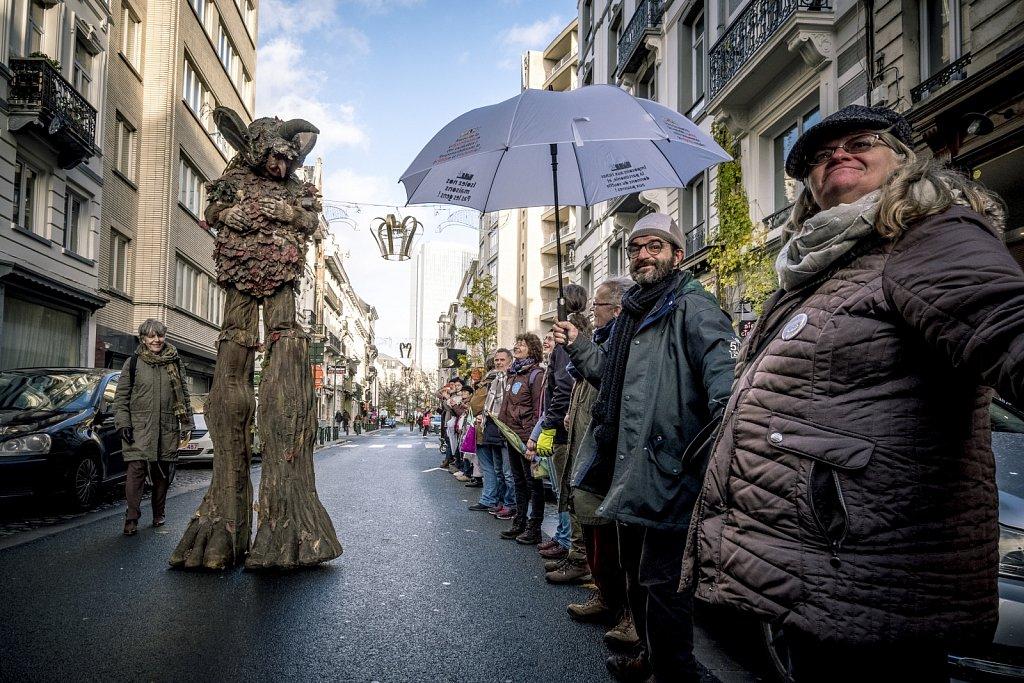 Décembre • Bruxelles • Chaîne humaine • Coalition Climat